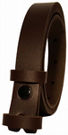 20mm Chocolate Snap Fit Leather Belt